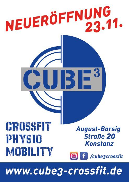Eröffnung CUBE³ Crossfit/Physio/Mobility am 23.11.2019